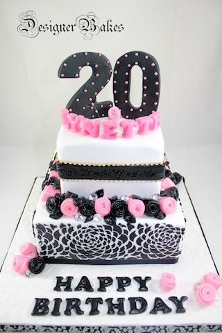 20th Birthday Cake Topper Brown Acrylic 2019