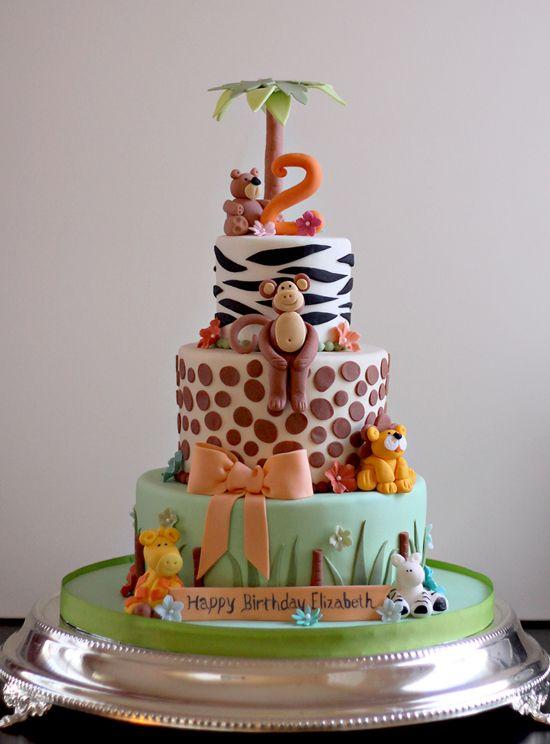 Birthday Cake Animals Design