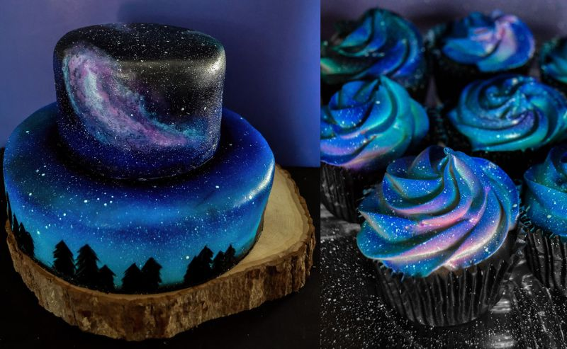 Galaxy Birthday Cakes