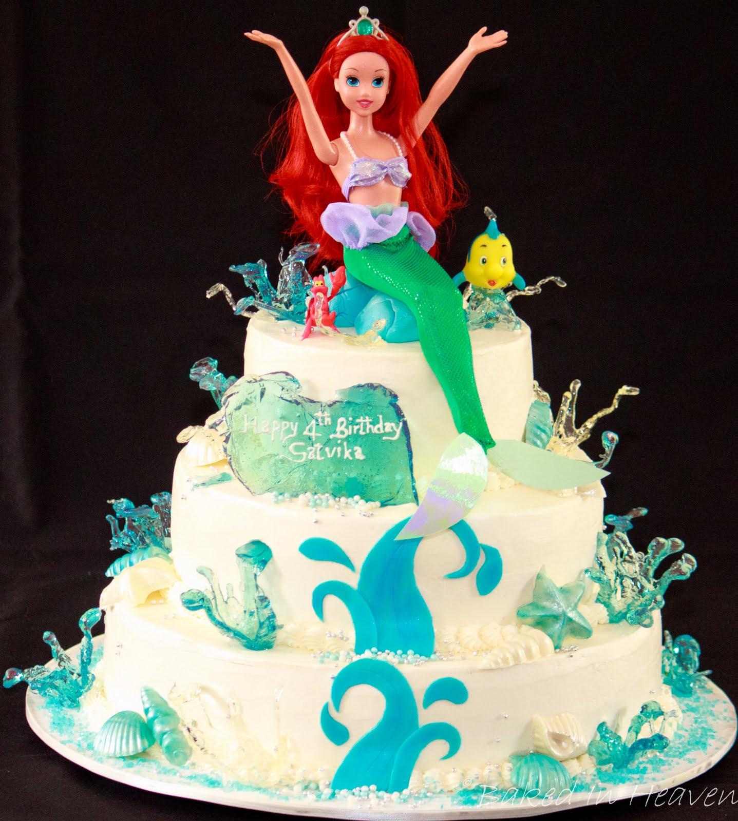 Ariel Birthday Cakes