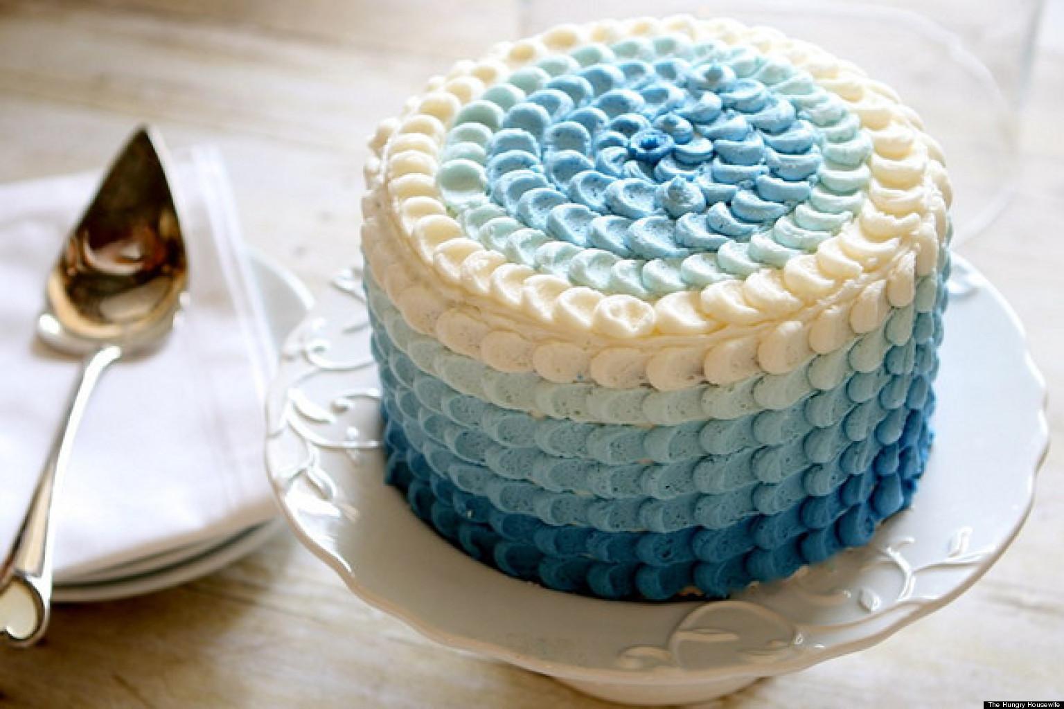 Ombre Birthday Cakes