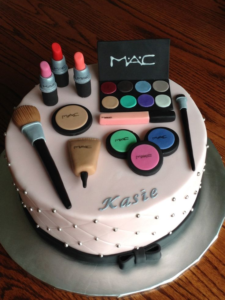 Makeup Themed Cakes