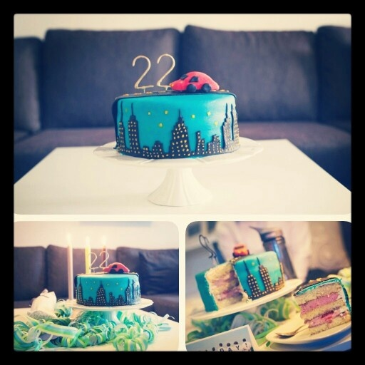 22Nd Birthday Cakes