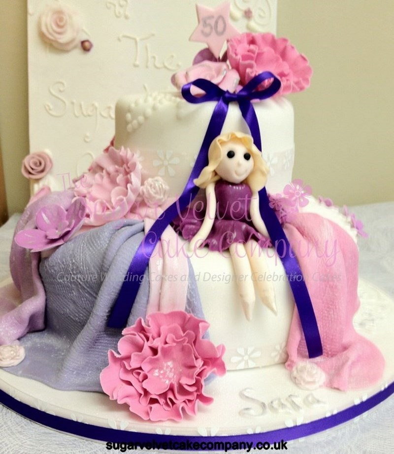 50th Female Birthday Cake Copy Sugar Velvet Company