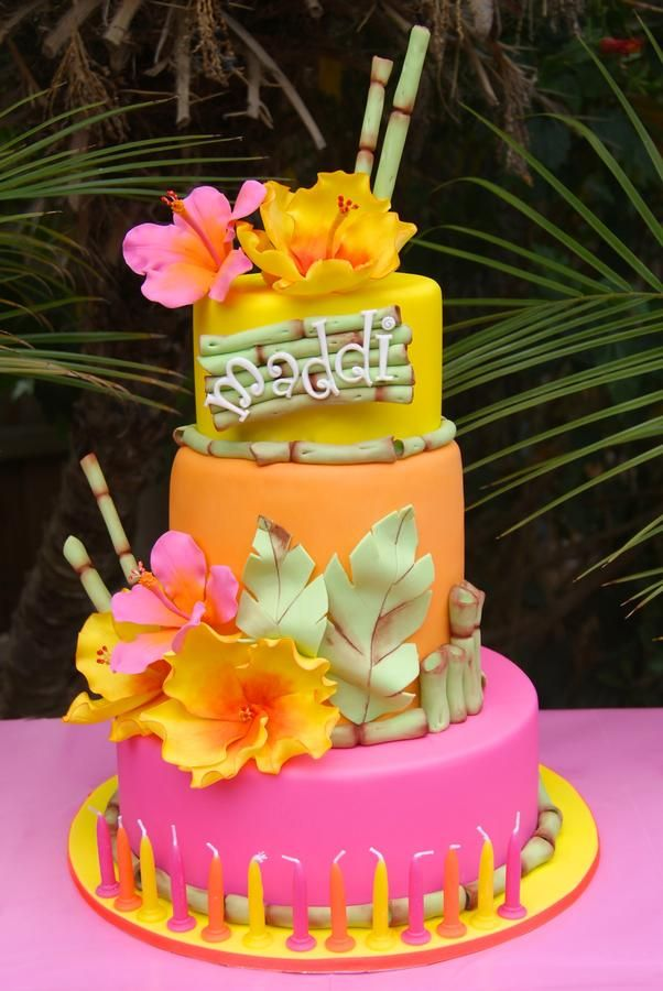 Tropical Birthday Cakes