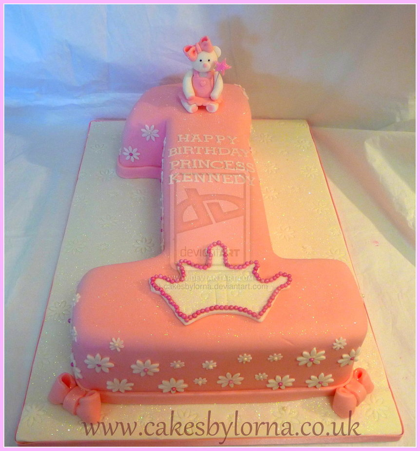 Number One Shaped Birthday Cake By Cakesbylorna On Deviant