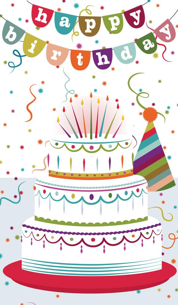 Card Birthday Cakes