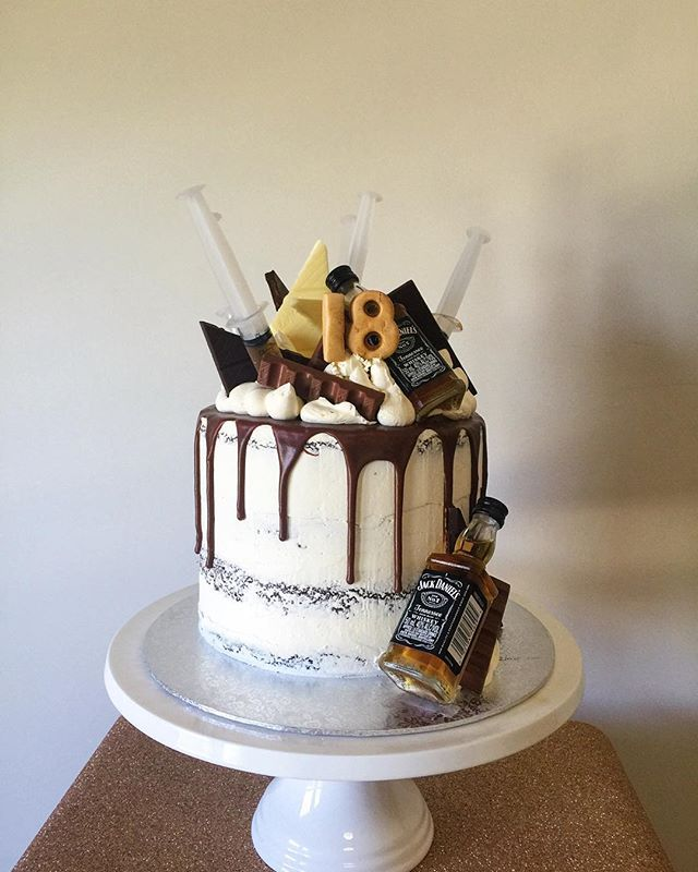 Alcohol Birthday Cakes