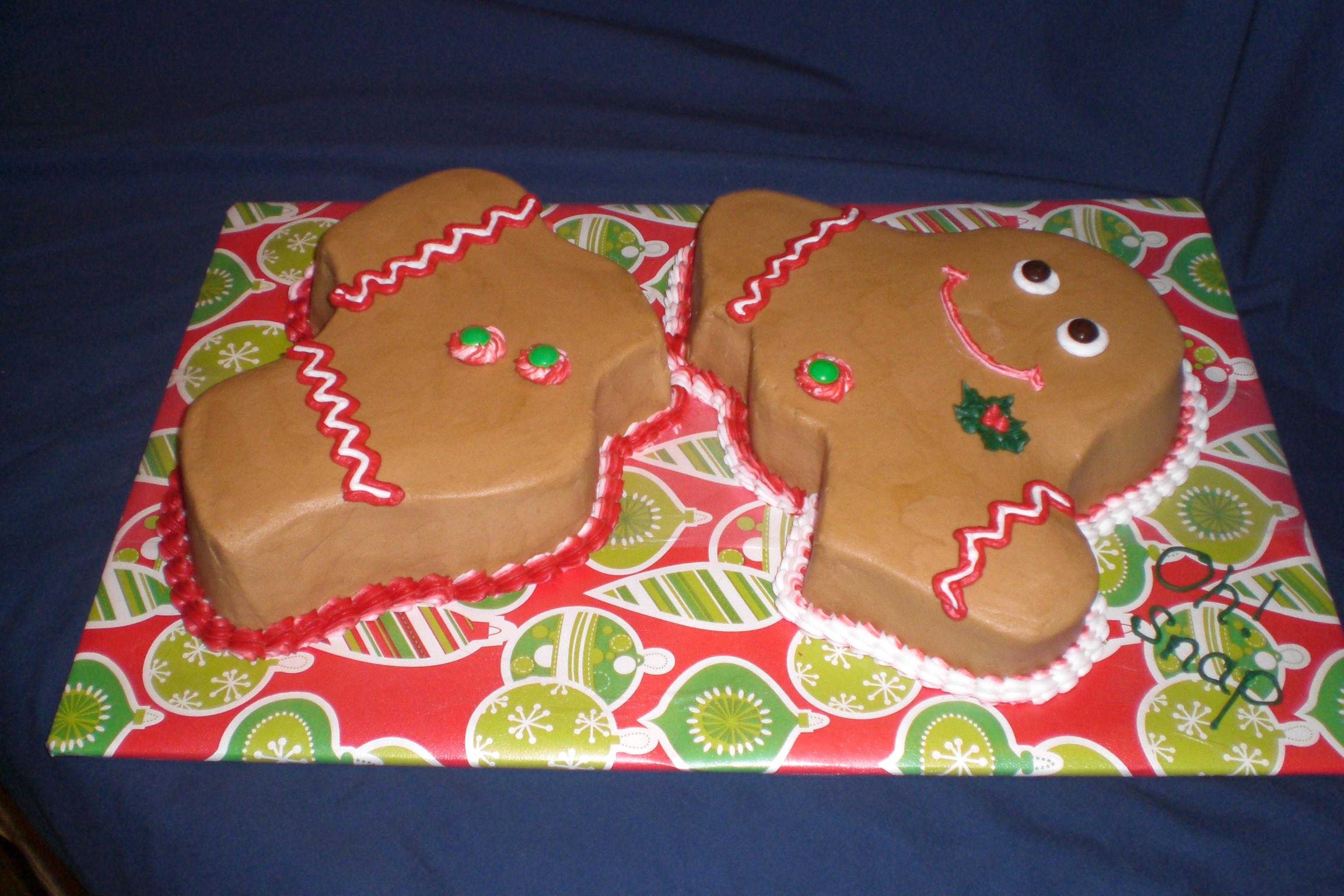 Gingerbread Birthday Cakes