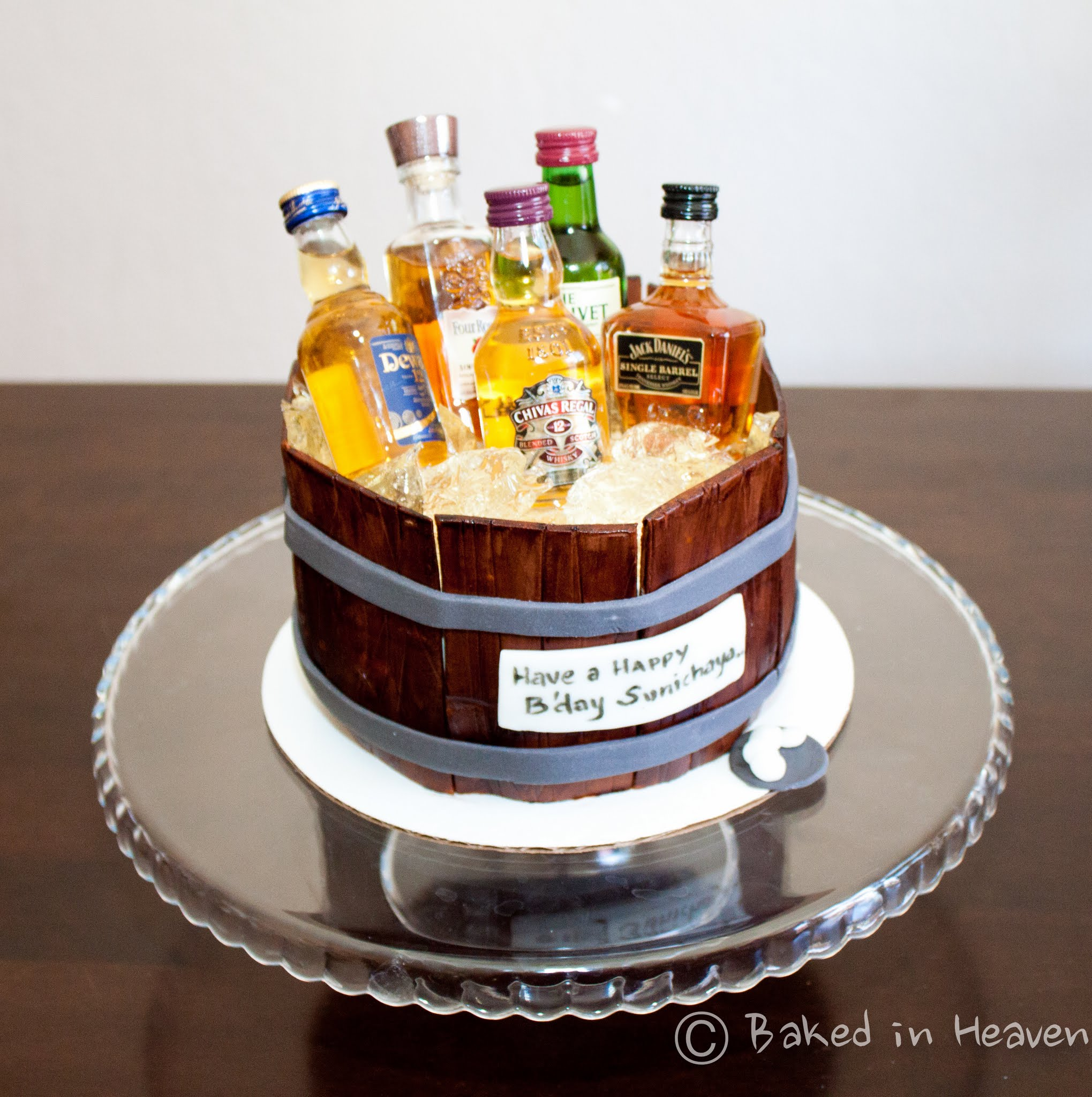 Liquor Birthday Cakes
