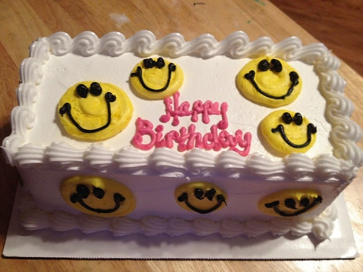 Emoticon Birthday Cakes