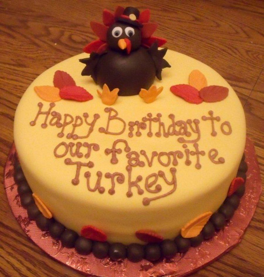 Turkey Birthday Cakes