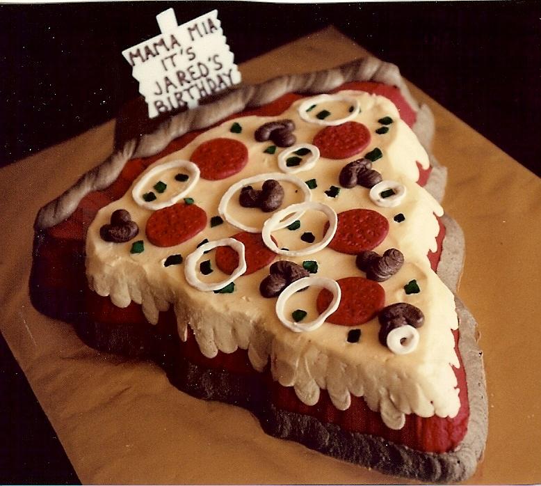 Pizza Birthday Cake By Janets Sugar Richmond VA
