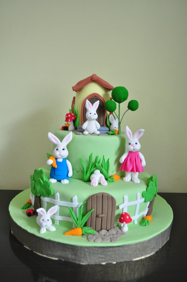 Bunny Birthday Cakes