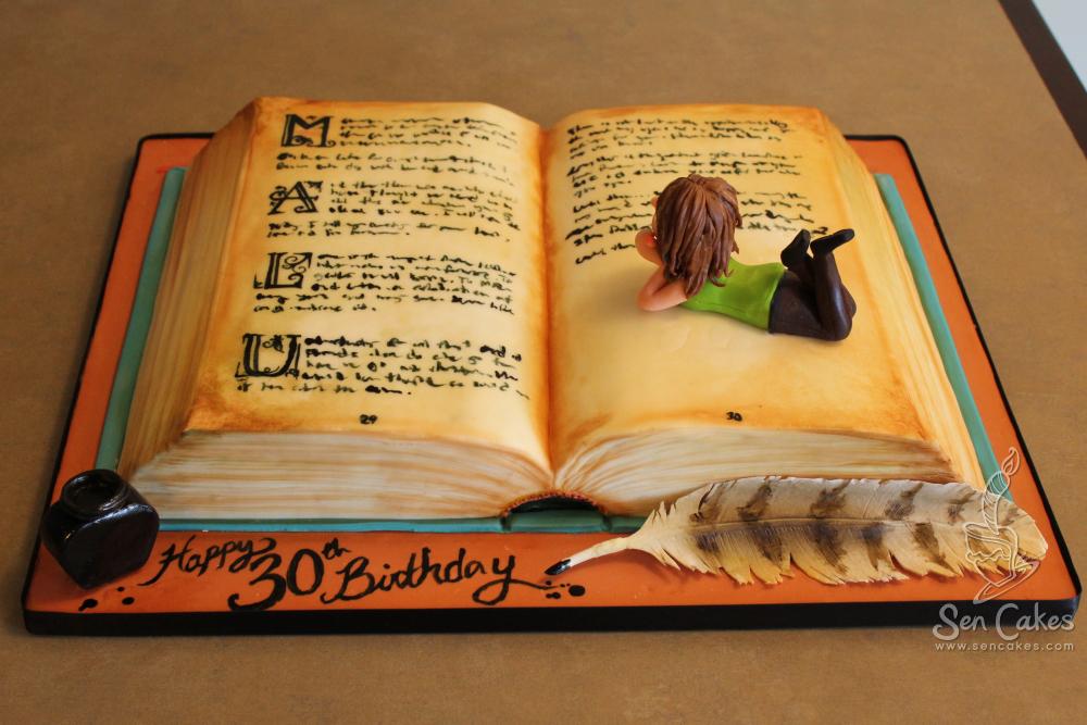 Awesome Books Cake Images Books Library Personalised Birthday Cards Xaembasilily Jamesorg