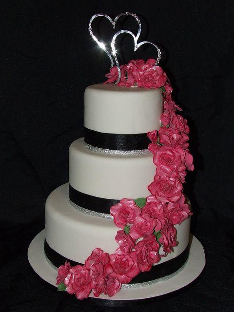 Fuschia Wedding Cakes