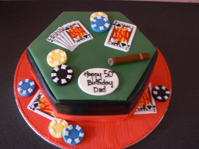 Poker Birthday Cakes