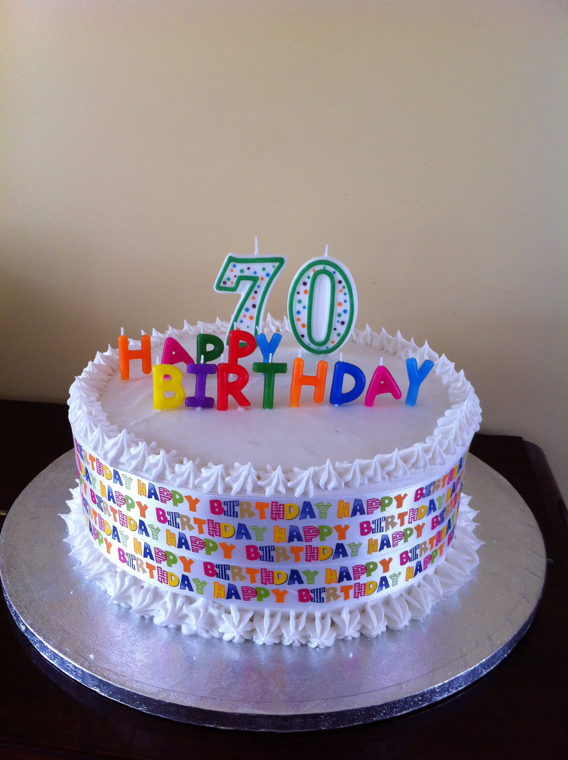 Birthday Cake For 70 Years Old Man