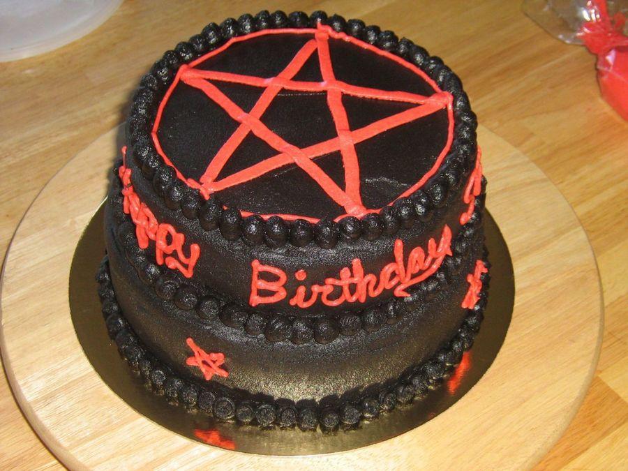 Satanic Birthday Cakes
