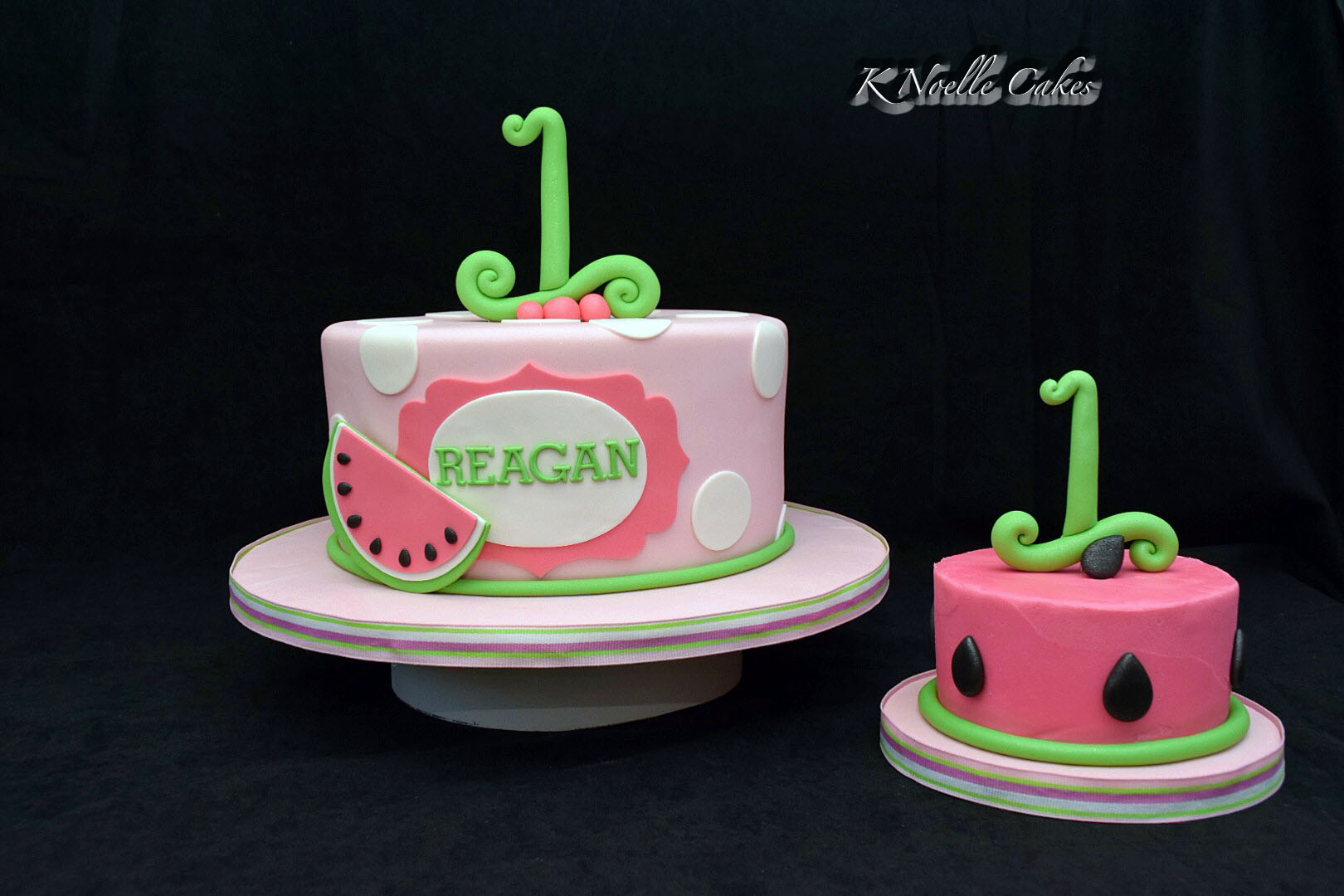 Watermelon Birthday Cakes