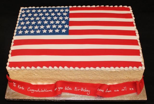 Flag Birthday Cakes