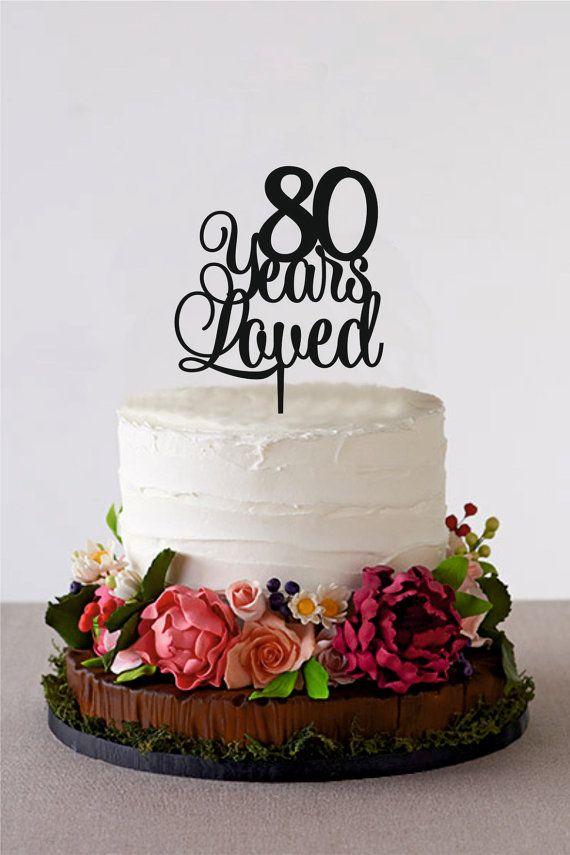 80Th Birthday Cakes