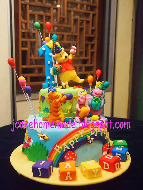 Winnie The Pooh Birthday Cake Flickr Photo Sharing