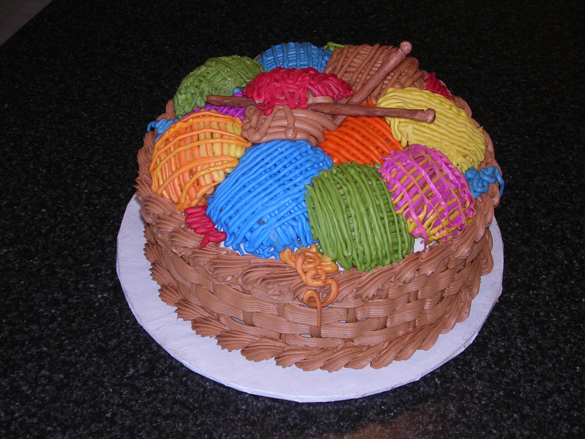 Yarn Birthday Cakes