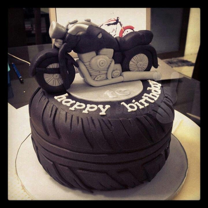 Motorbike Birthday Cakes