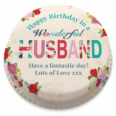 Personalised Birthday Cakes For Your Husband Bakerdays