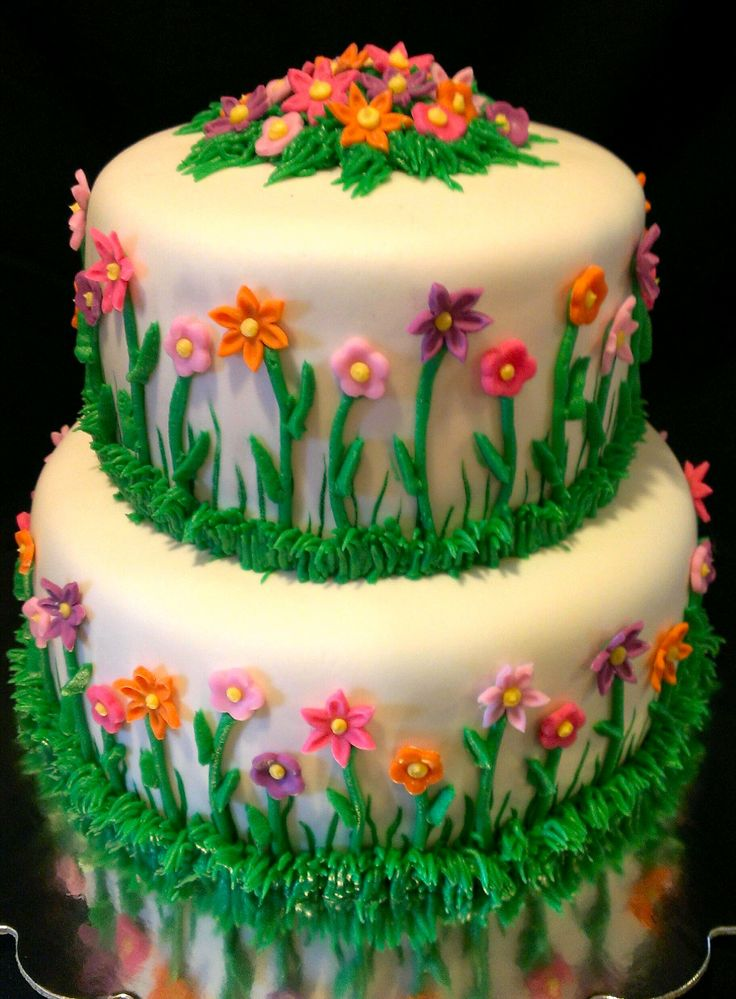 Garden Birthday Cakes