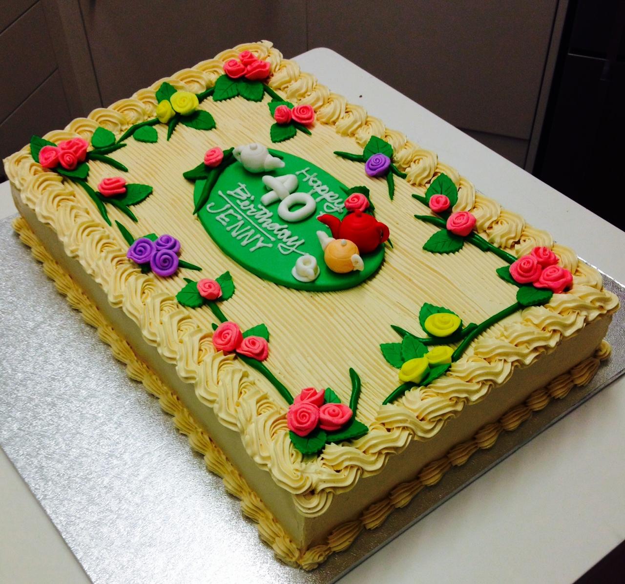 Rectangle Birthday Cakes