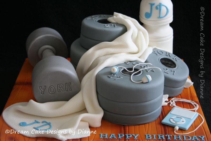 Bodybuilding Birthday Cakes