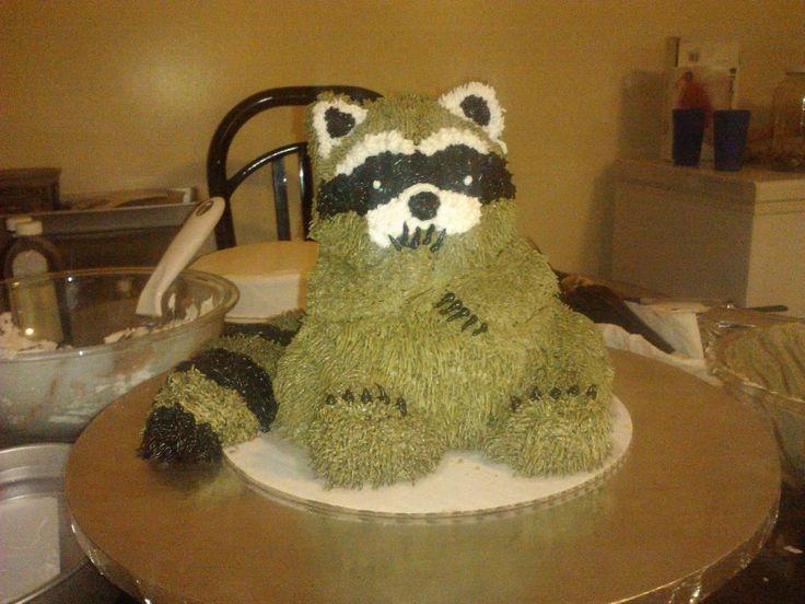 Raccoon Birthday Cakes