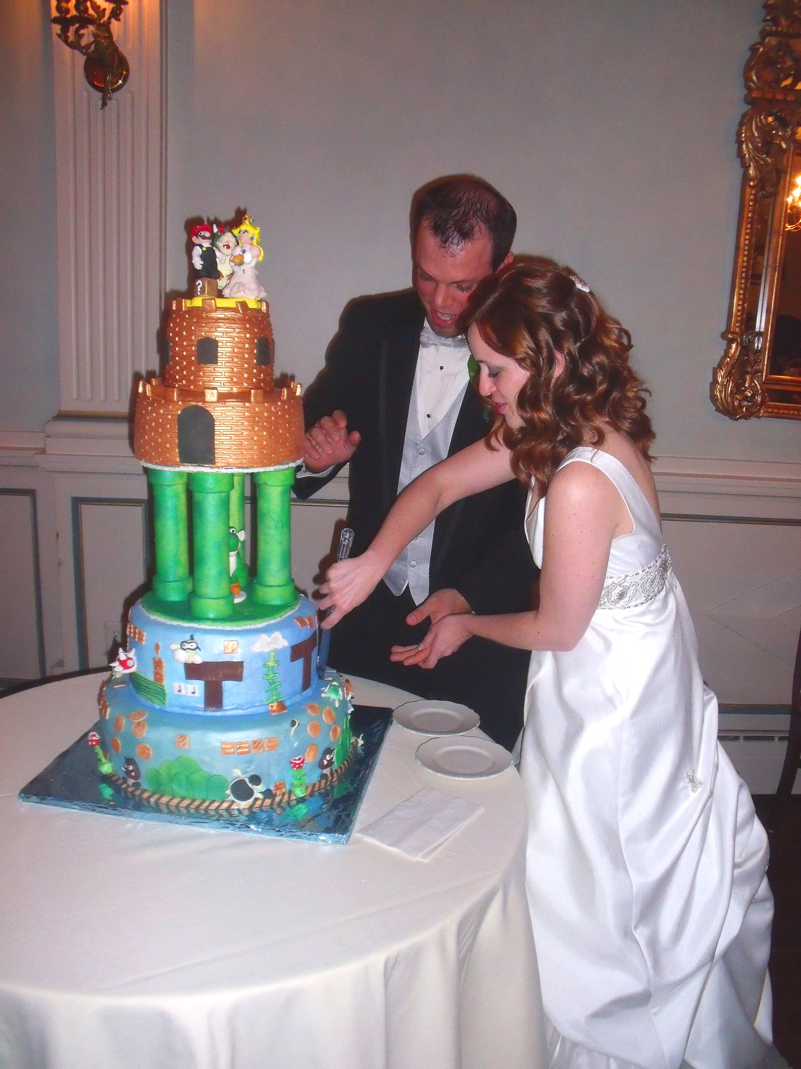 game wedding cakes