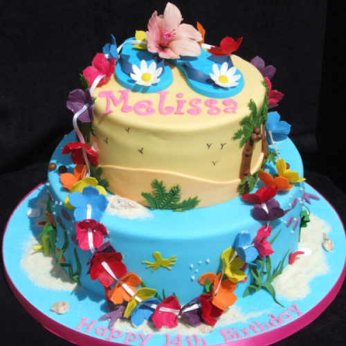 Pin Hawaiian Birthday Cake On Pinterest