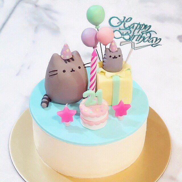 Pusheen Birthday Cakes