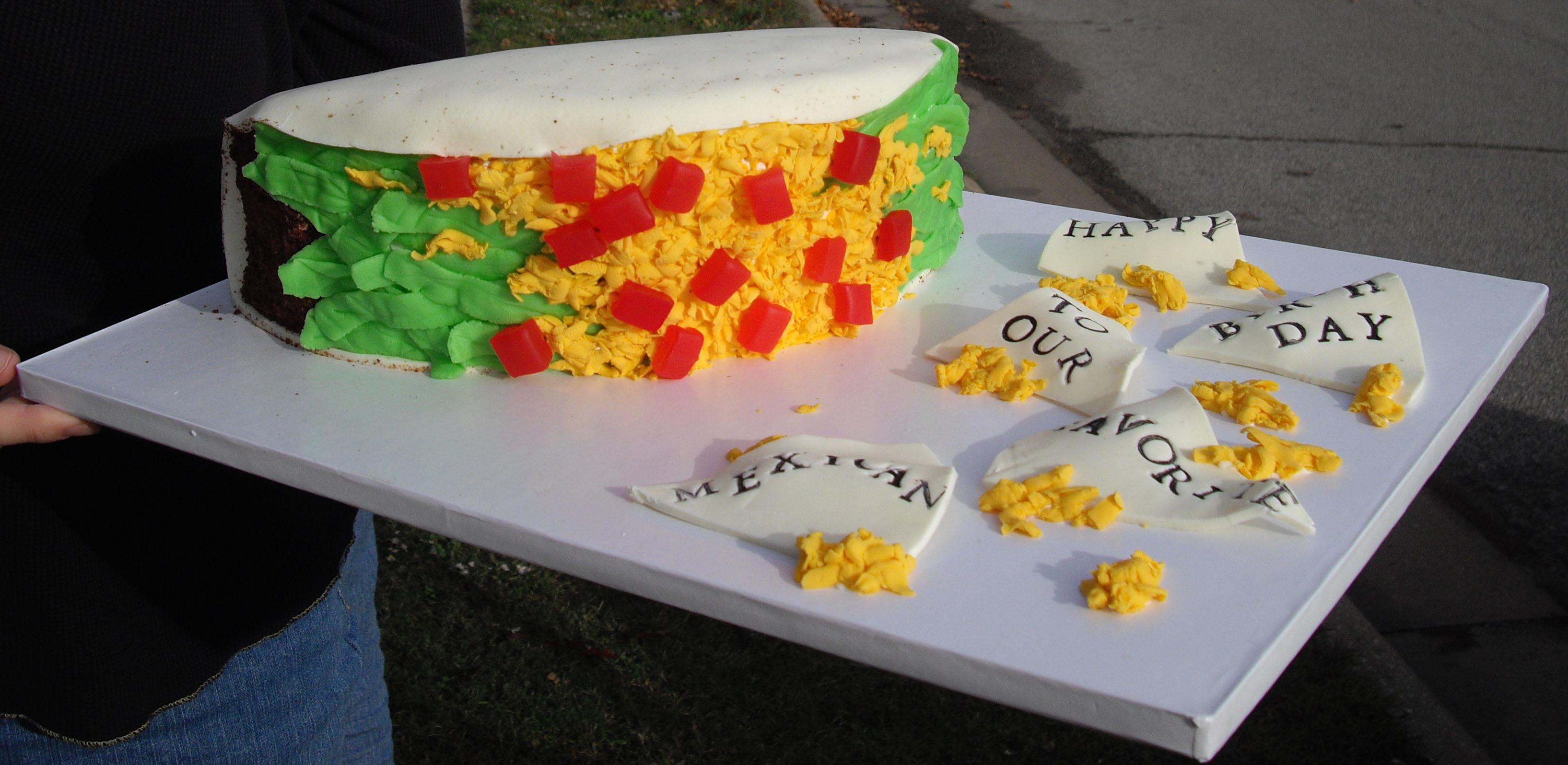 Taco Birthday Cakes