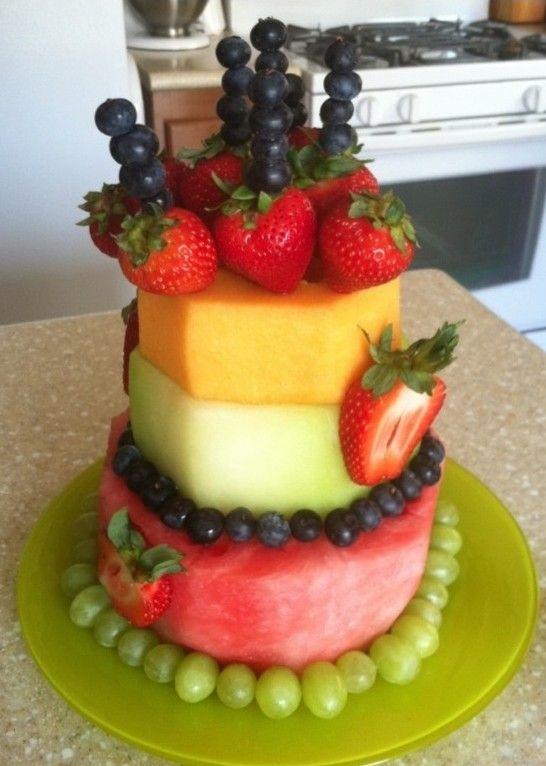Fruit Birthday Cakes