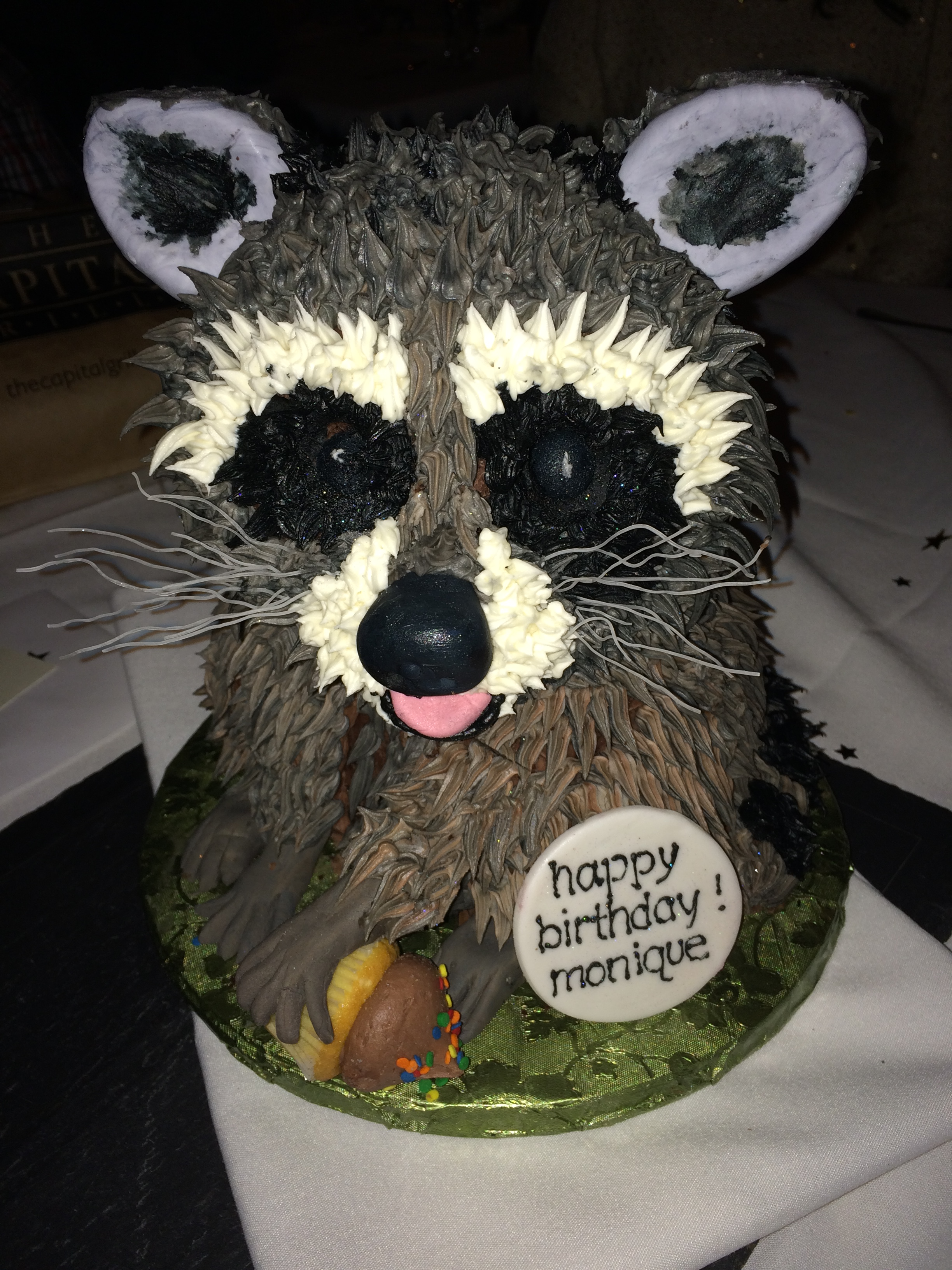 Raccoon Birthday Cakes