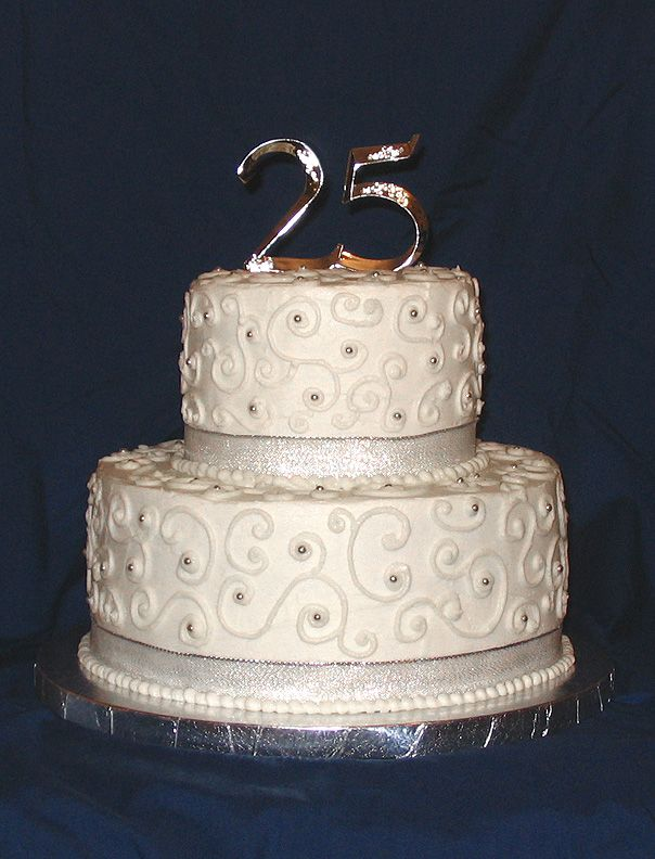 25Th Anniversary Cakes