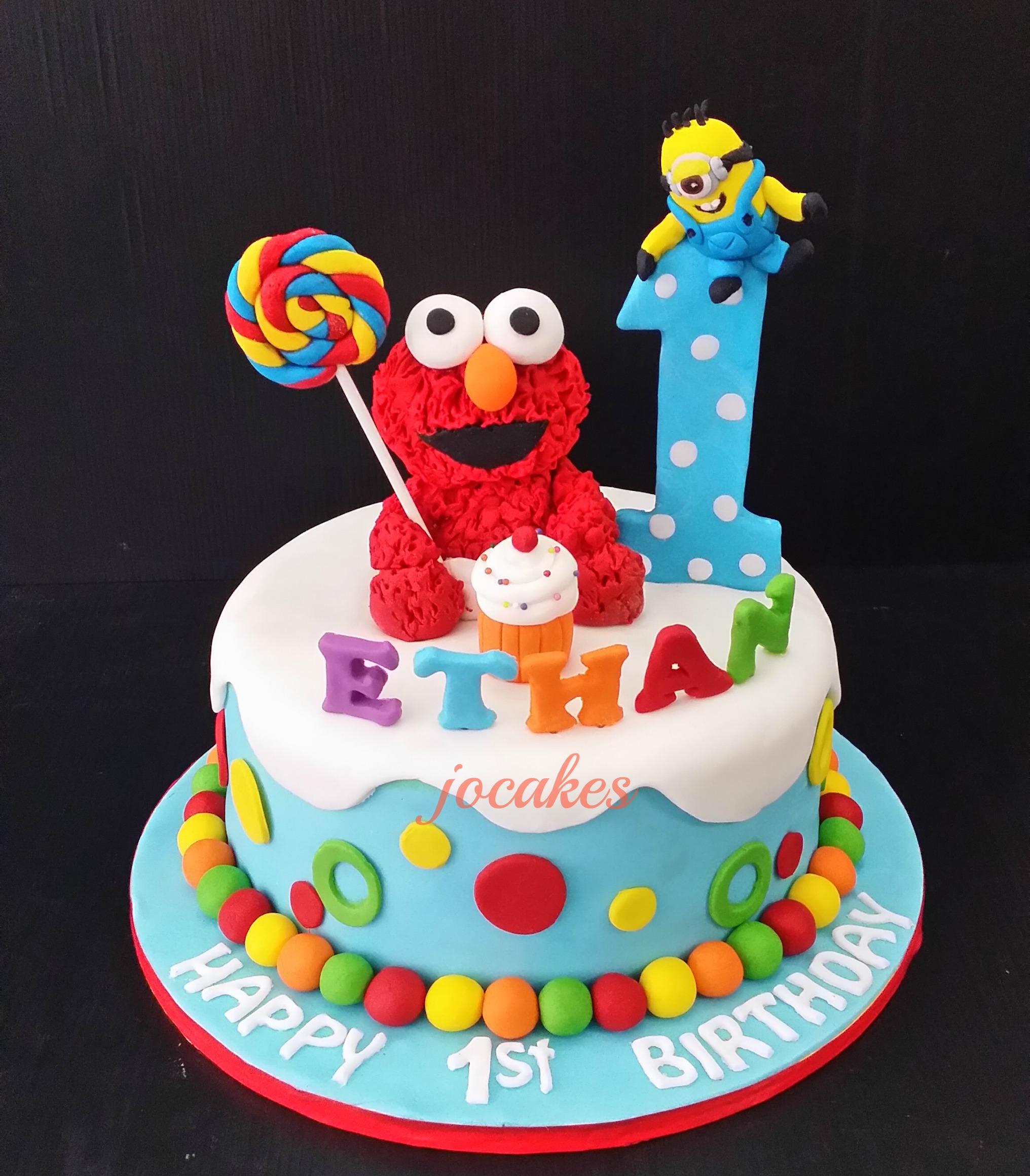 Elmo Themed Birthday Cakes Jpg 2032x2321