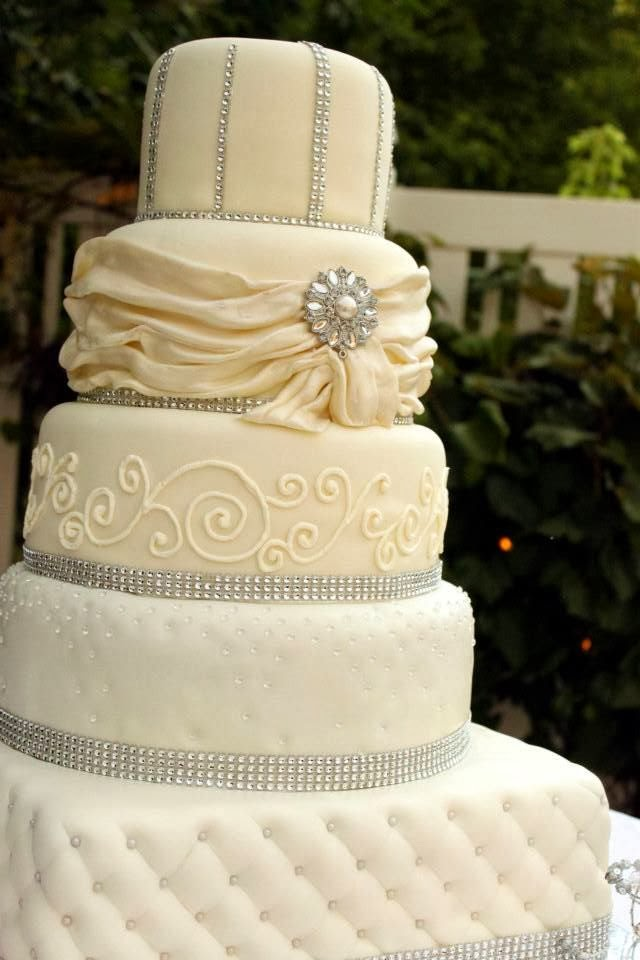 Rhinestone Wedding Cakes
