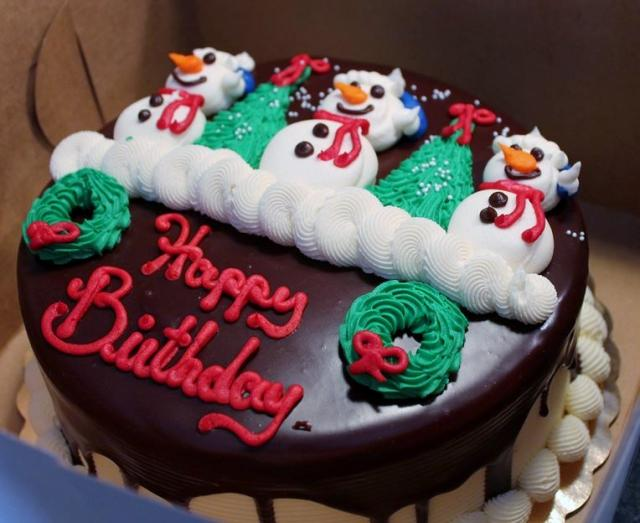 Christmas Birthday Cake Images Happy