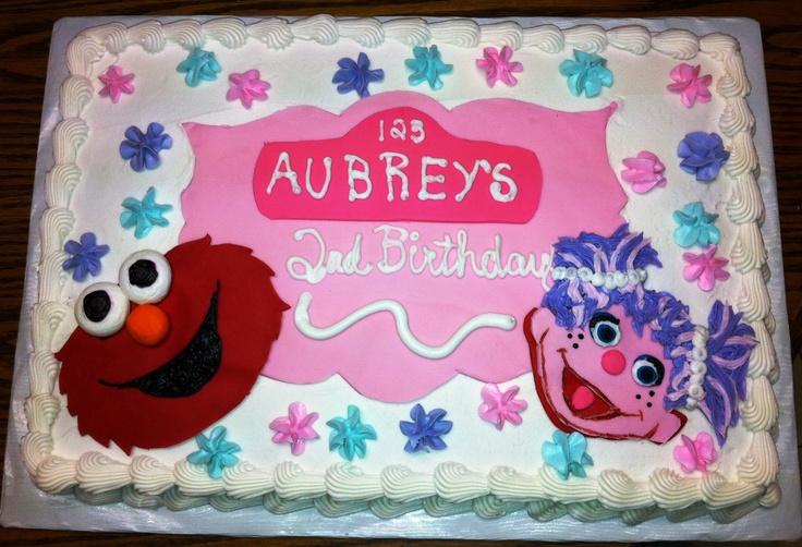 Ernie Abby Cadabby Birthday Cake Elmo And