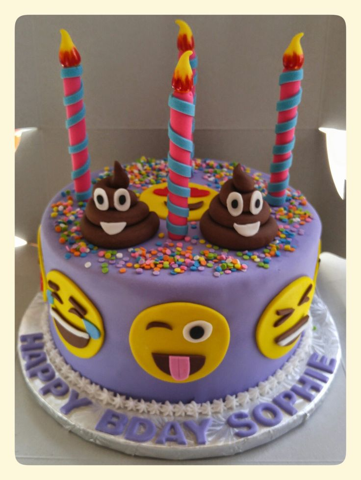 Emoji Birthday Cakes