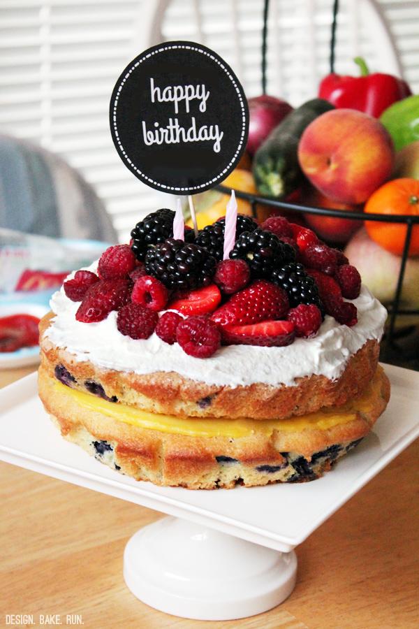 Fruity Birthday Cakes