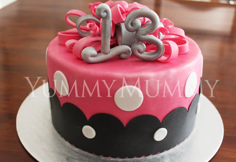 Thirteenth Birthday Cakes