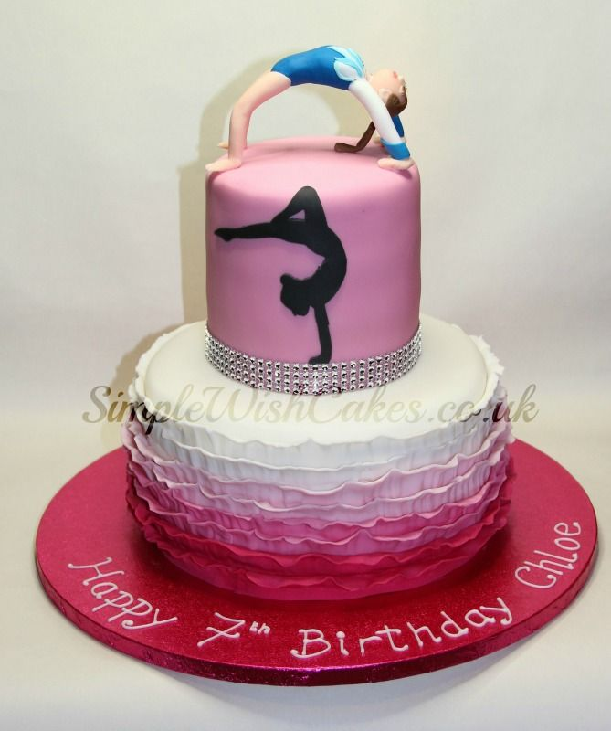 Gymnastics Birthday Cakes