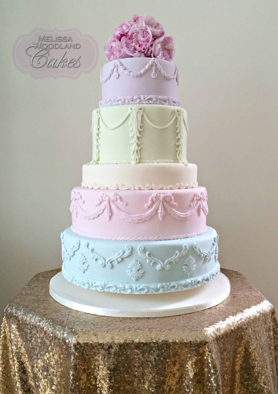 Wedding Cake Pastel Colours Cake Recipe